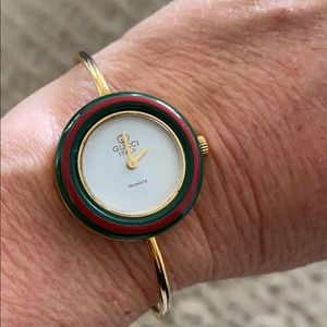 Vintage Gucci watch with interchangeable bezels